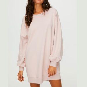 Babaton Blush Pink Angelica Sweater Dress XS